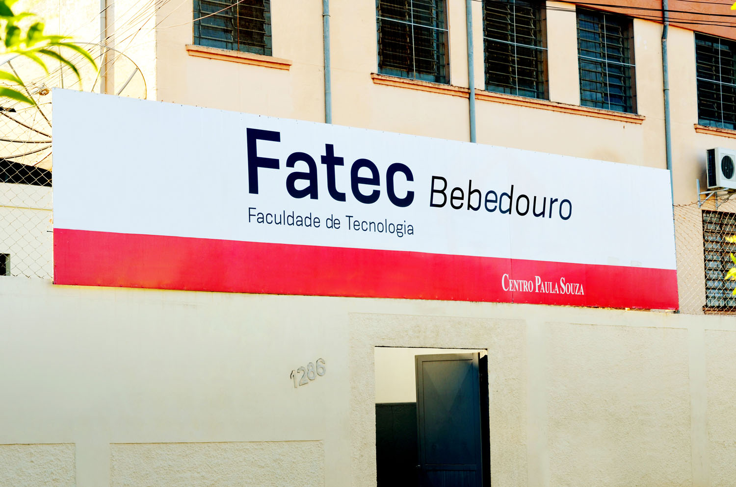 Foto do Campus da Fatec Bebedouro